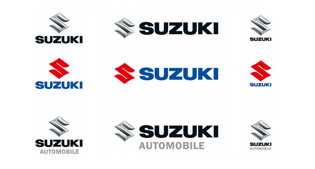 Variations of Suzuki logo